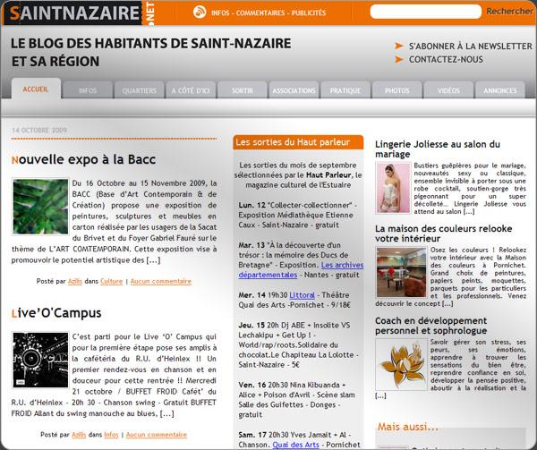 Capture d'écran du site Sint-nazaire.net
