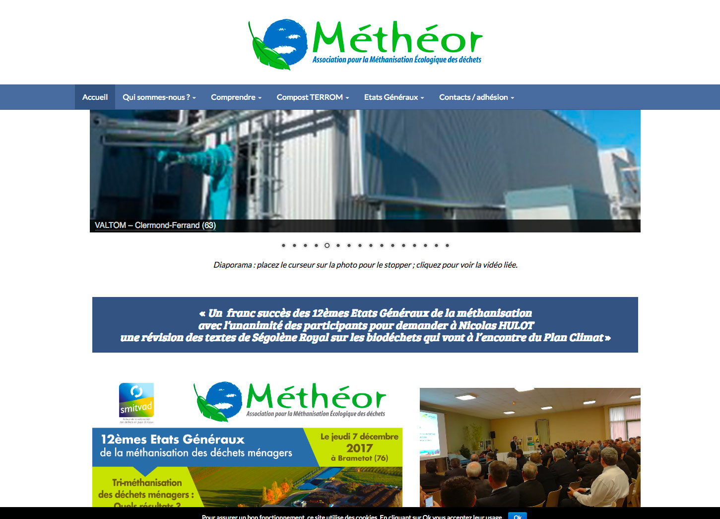 Site internet : association Méthéor