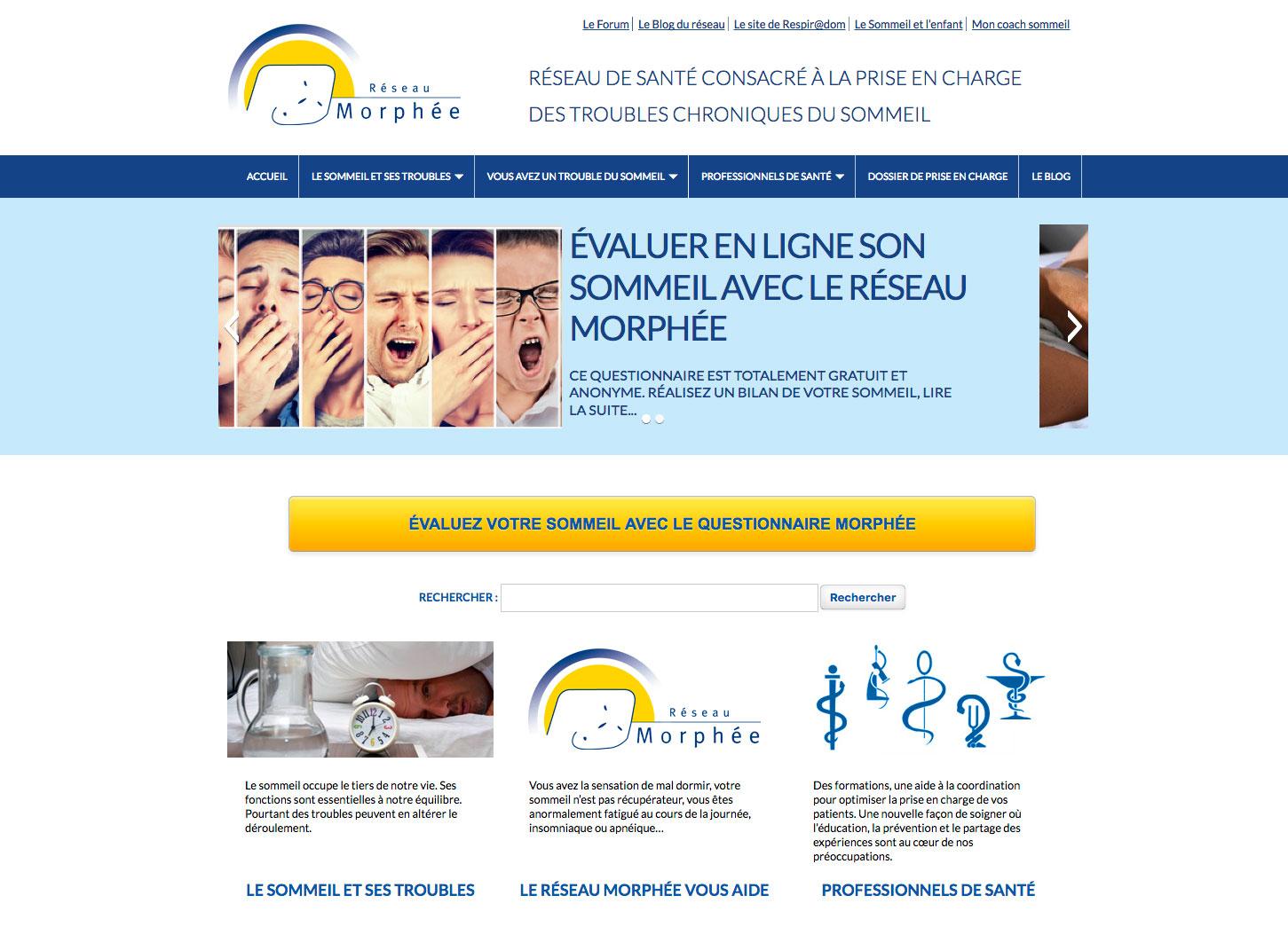 Refonte complète de site internet : Réseau Morphée